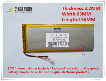 Tablet battery3.7V 4800 mAH 3263156 Polimer lityum iyon/Li-Ion pil tablet pc için