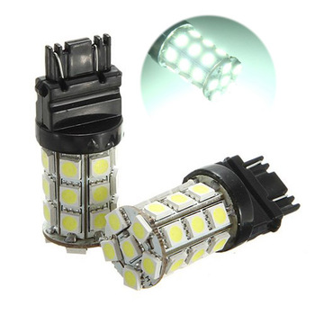 TOYL 2 * T25 W21/5 W 3157 7443 Blanc XENON 5050 SMD 27 LED AMPUL Lampe 12 V VOITURE lumiere