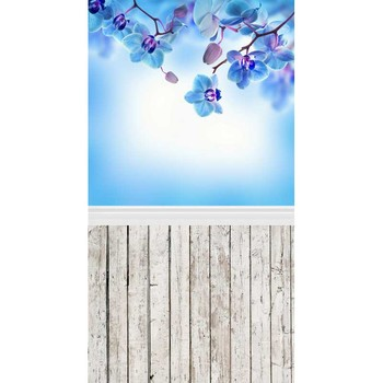 MEHOFOTO Vinyl Photography Backdrops Flowers and wood floors Computer printed Valentine's Day and Wedding Backdrops F-1056