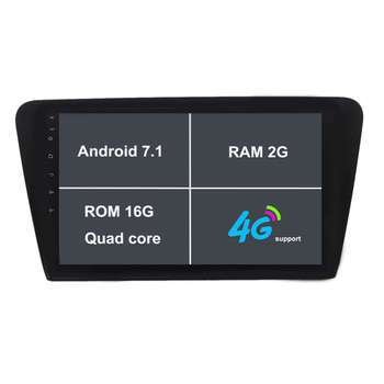 Android Için 10.1 Inç Araba DVD GPS Video Player 7.1.1 Skoda/octavia 2017-CANBUS 2G RAM 16 ROM Quad Core Radyo navigasyon