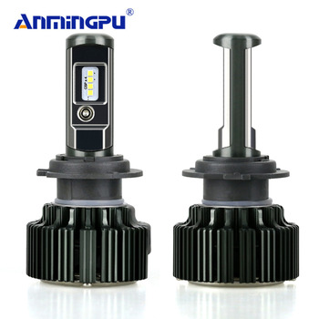 ANMINGPU 2 Adet 8000LM Far Blubs H4 LED H7 H8 H11 HB3/9005 HB4/9006 H1 H3 9012 Araba Led Ampuller Far LED Lamba CSP çip